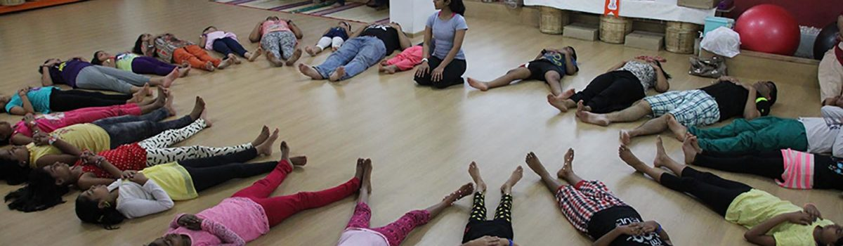 Children in shavasana